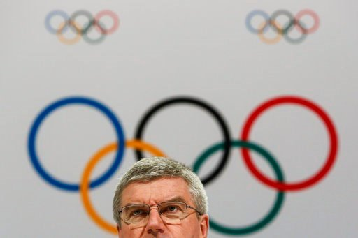 (AP Photo/Joshua Paul, File). FILE - In this Aug. 3, 2015 file photo, International Olympic Committee President Thomas Bach speaks at a press conference after the 128th IOC session in Kuala Lumpur, Malaysia. After a debacle in Boston, the U.S. Olympic ...