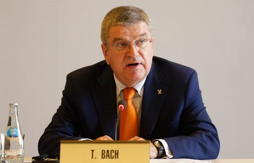 (AP Photo/Martin Mejia). International Olympic Committee President Thomas Bach, addresses the opening IOC session in Lima, Peru, Monday, Sept. 11, 2017. Bach is in Lima for the Wednesday IOC session to vote on the host cities for the next Olympics.