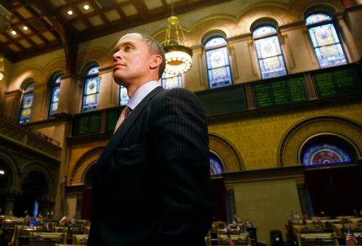 (AP Photo/Mike Groll, File). FILE - In this Monday, Jan. 25, 2010, file photo, Harold Ford Jr. visits the Capitol in Albany, N.Y. On Thursday, Dec. 7, 2017, Morgan Stanley fired former Congressman Ford following allegations of misconduct. In a tweet Fo...