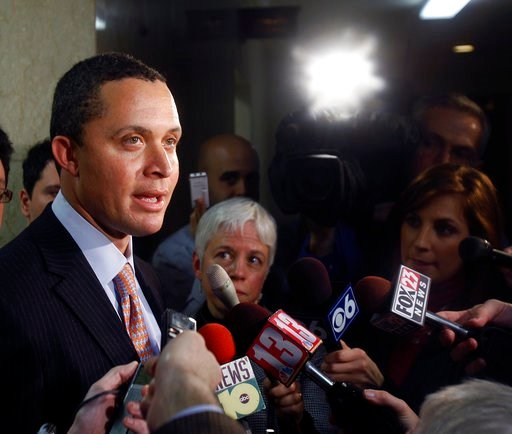 (AP Photo/Mike Groll, File). FILE - In this Monday, Jan. 25, 2010, file photo, Harold Ford Jr. talks to reporters at the Capitol in Albany, N.Y. On Thursday, Dec. 7, 2017, Morgan Stanley fired former Congressman Ford following allegations of misconduct...
