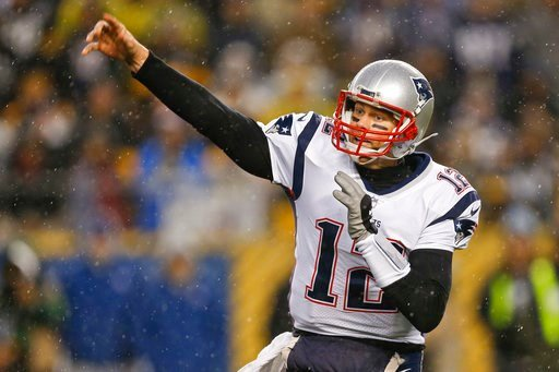 (AP Photo/Keith Srakocic, File). FILE - In this Dec. 17, 2017, file photo, New England Patriots quarterback Tom Brady (12) plays against the Pittsburgh Steelers, in an NFL football game, in Pittsburgh.  If Brady's history against Tennessee is any indic...