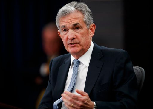 (AP Photo/Carolyn Kaster, File). FILE- In this March 21, 2018, file photo, Federal Reserve Chairman Jerome Powell speaks following the Federal Open Market Committee meeting in Washington. Investors are eagerly awaiting the updated economic forecasts th...